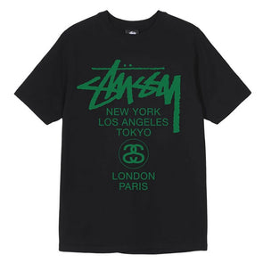 Stussy Women's World Tour Tee Black/Green