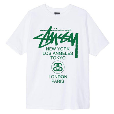 Stussy Women's World Tour Tee White/Green