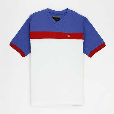 Brixton Substance Knit Shirt White/Royal - Xtreme Boardshop