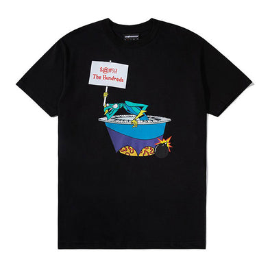 The Hundreds X Space Ghost Coast to Coast Blast T-Shirt Black
