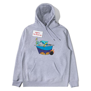 The Hundreds X Space Ghost Coast to Coast Blast Pullover Hoodie Athletic Heather