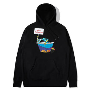 The Hundreds X Space Ghost Coast to Coast Blast Pullover Hoodie Black