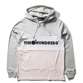 The Hundreds Deck Hooded L/S Shirt Light Grey