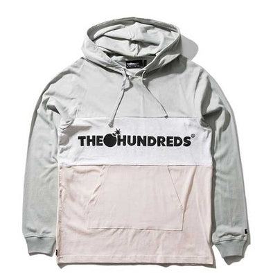 The Hundreds Deck Hooded L/S Shirt Light Grey - Xtreme Boardshop