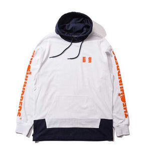 The Hundreds Flip Hooded L/S Shirt White