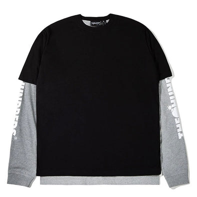 The Hundreds Hill L/S Shirt Black