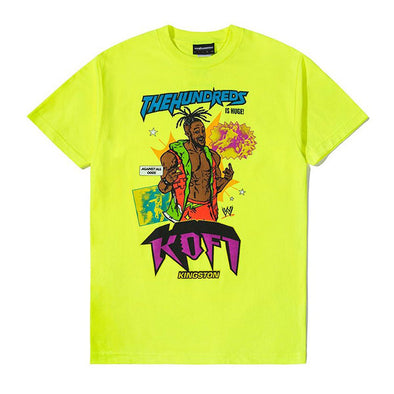 The Hundreds X WWE Kofi Kingston T-Shirt Safety Green