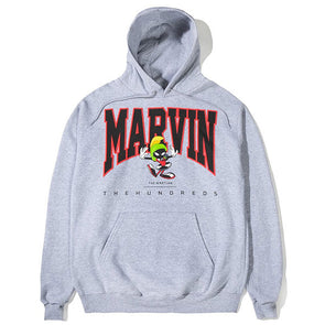 The Hundreds Marvin University Pullover Hoodie Ash Heather