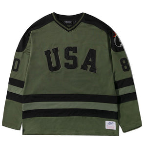 The Hundreds Miracle Hockey Jersey Olive