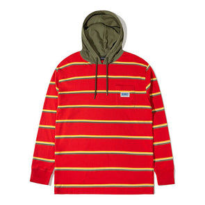 The Hundreds Ridge Hooded L/S Shirt Red