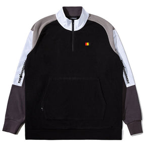 The Hundreds Trails Half-Zip Black