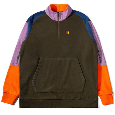 The Hundreds Trails Half-Zip Green