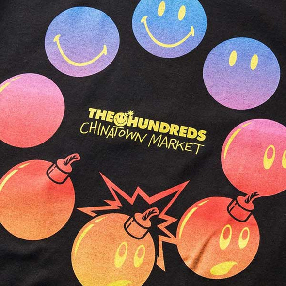 The Hundreds X Chinatown Market Cycle Adam T-Shirt Black