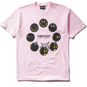 The Hundreds X Chinatown Market Cycle Adam T-Shirt Pink