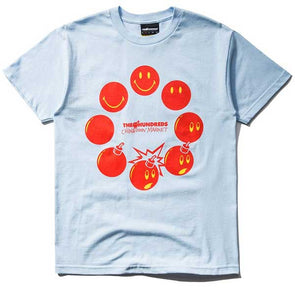 The Hundreds X Chinatown Market Cycle Adam T-Shirt Powder Blue