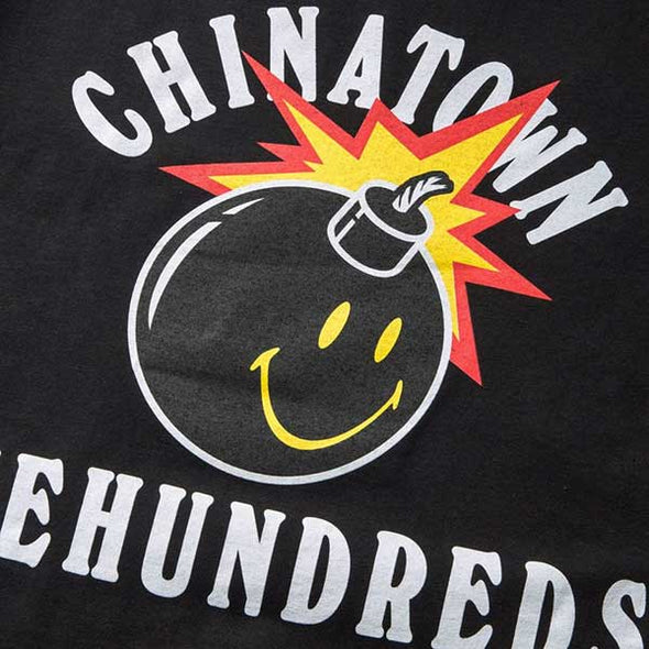 The Hundreds X Chinatown Market Happy Adam T-Shirt Black