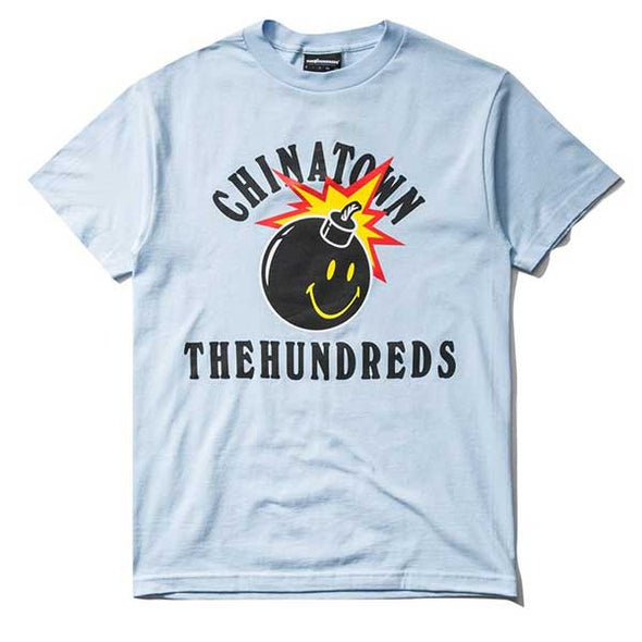 The Hundreds X Chinatown Market Happy Adam T-Shirt Powder Blue