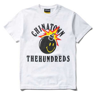 The Hundreds X Chinatown Market Happy Adam T-Shirt White