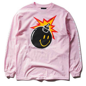 The Hundreds X Chinatown Market Smiley Adam L/S Shirt Pink