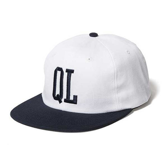 The Quiet Life Dugout Polo Hat White/Navy - Xtreme Boardshop