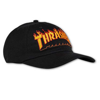 Thrasher Flame Old Timer Hat Black