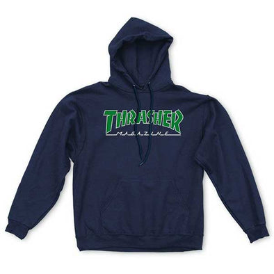 Thrasher Outlined Hood Navy Blue