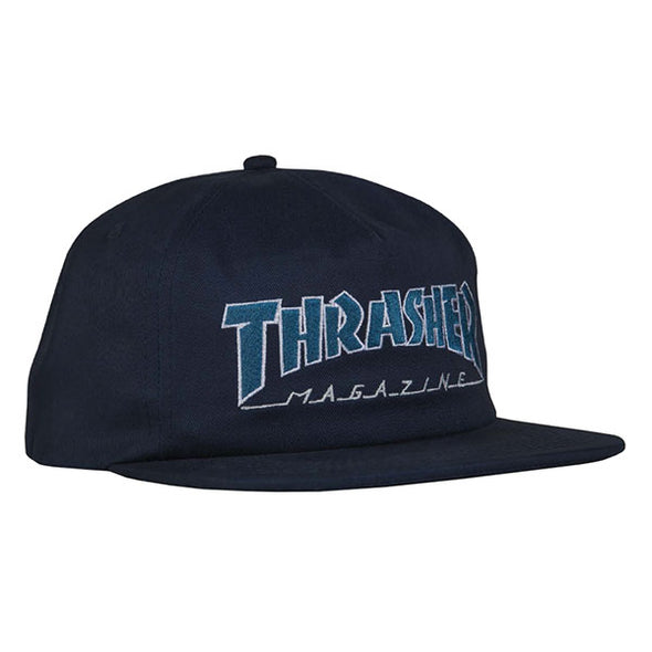 Thrasher Outlined Snapback Navy/Gray