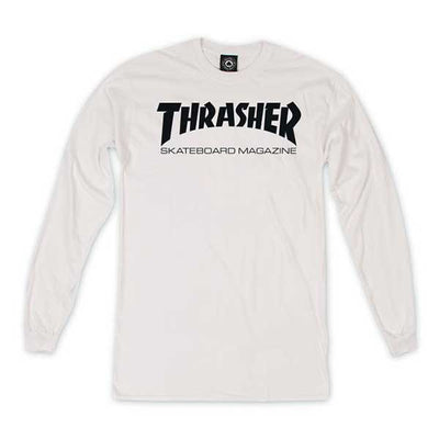 Thrasher Skate Mag Long Sleeve White - Xtreme Boardshop