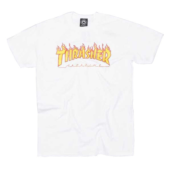 Thrasher Flame White - Xtreme Boardshop