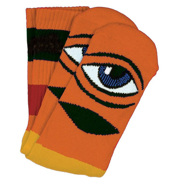 Toy Machine Sect Eye Big Stripe Sock Orange