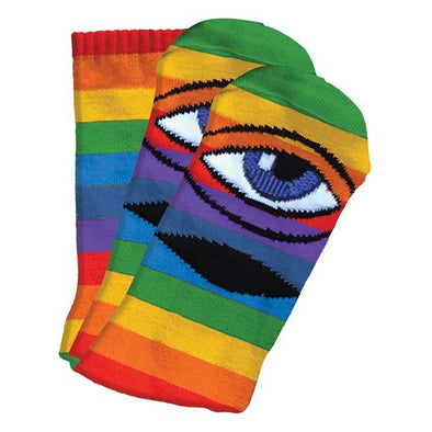 Toy Machine Sect Eye Sock Rainbow Stripe