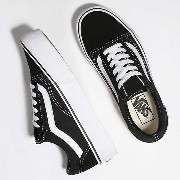 Vans Women's Old Skool Platform Black/White - Xtreme Boardshop