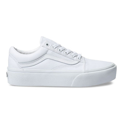 Vans Women's Old Skool Platform True White