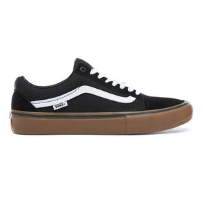 Van Old Skool Pro Black/White/Medium Gum - Xtreme Boardshop