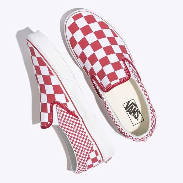 Vans Slip-On Mix Checker Chili Pepper/True White