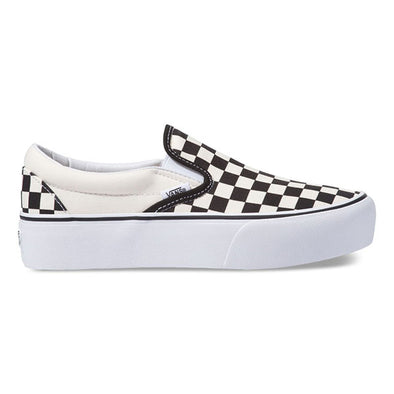 Vans Women's Slip-On Platform Black and White Checker/White