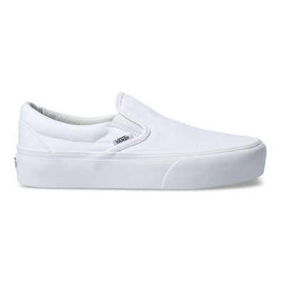 Vans Women's Slip-On Platform True White
