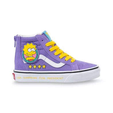 Vans x The Simpsons Kids Sk8-Hi Zip Lisa 4 Prez