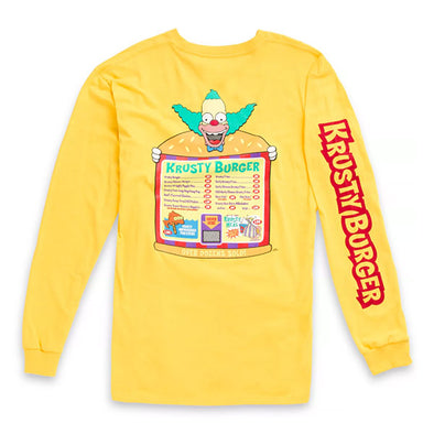 Vans x The Simpsons Krusty Long Sleeve T-Shirt Yellow