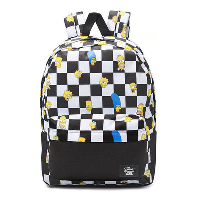 Vans x The Simpsons Old Skool III Backpack Family Black and White Checker
