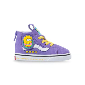Vans x The Simpsons Toddler Sk8-Hi Zip Lisa 4 Prez