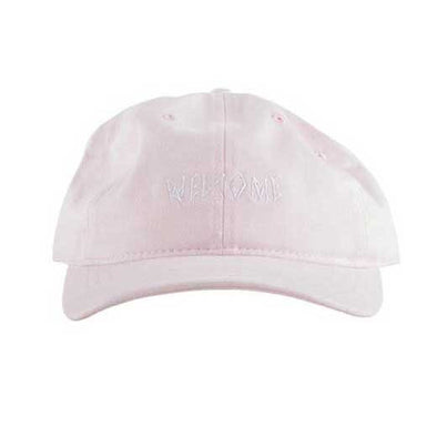 Welcome Scrawl Unstructured 6-Panel Slider Pink - Xtreme Boardshop