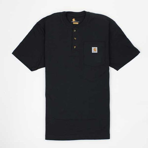 Carhartt Workwear Pocket Henley Short Sleeve Black - Xtreme Boardshop