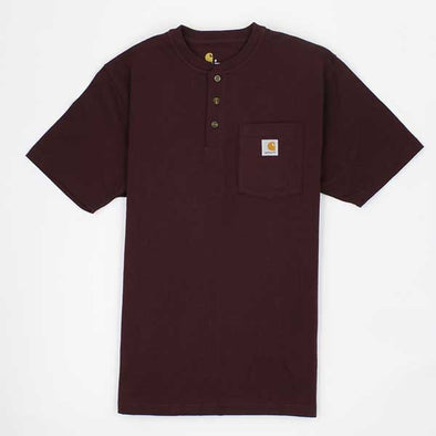 Carhartt Workwear Pocket Henley Short Sleeve Port - Xtreme Boardshop