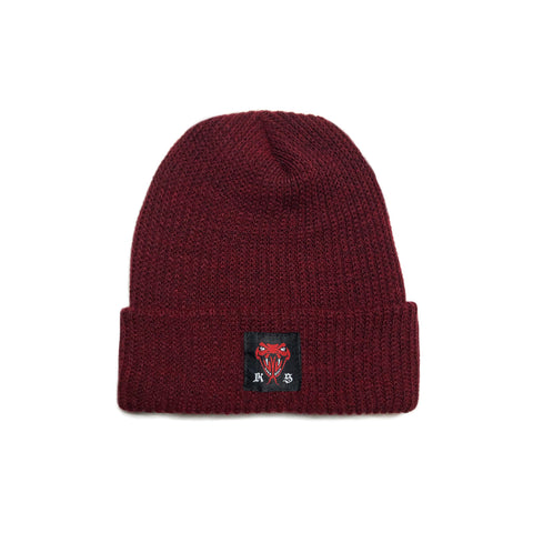 VIPER BEANIE - BURGUNDY HEATHER
