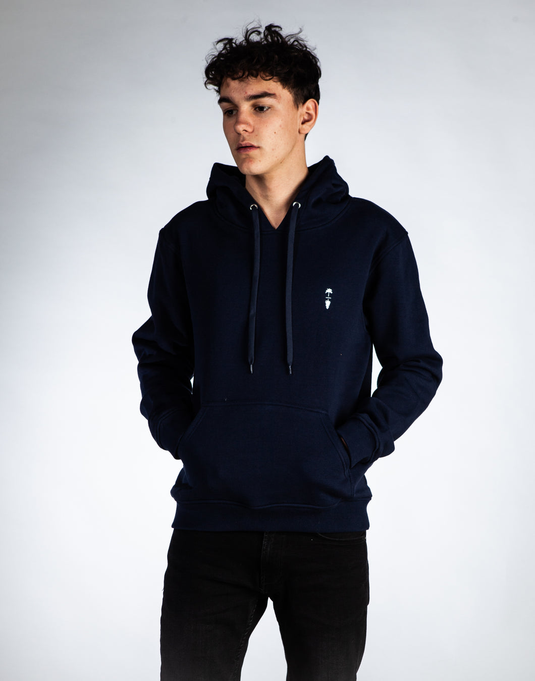 Cotton Blend Hoodie - Palm to Pine