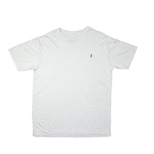 White surf t-shirt with palm to pine logo