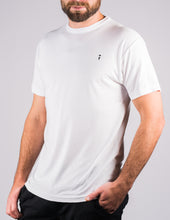white surf t-shirt on male model