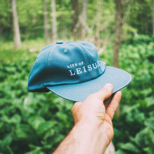 Blue Unstructured 6 Panel Hat Life of Leisure In Forest