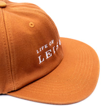Orange Unstructured 6 Panel Hat side profile